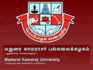 Madurai Kamaraj University Admission2013