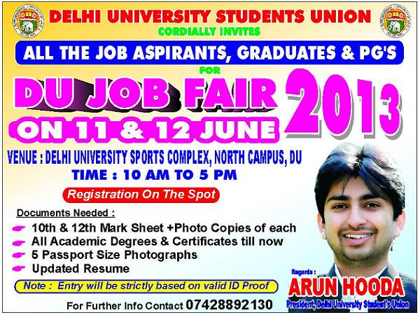 Job Fair @Delhi University begins today