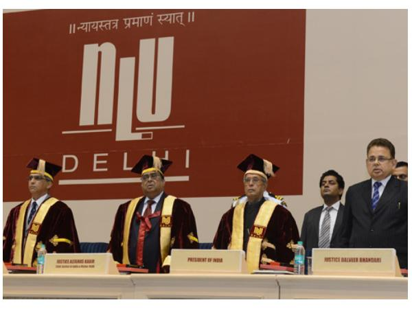 President Panab Mukherjee at NLU Delhi
