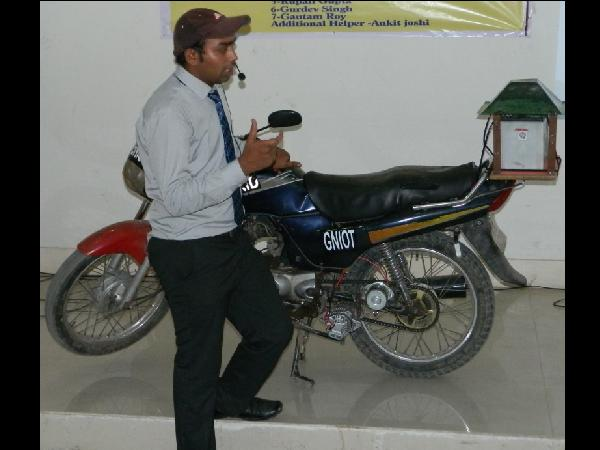 ELECTRIC CUM FUEL BIKE by GNOIT students