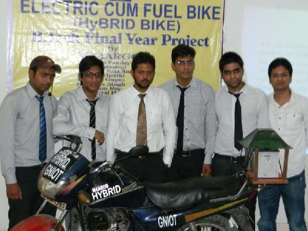 The team with their bike