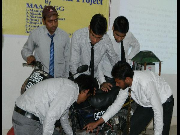 final yr b tech students with thier bike