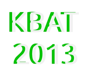KBAT 2013 Entrance test on July 19 & 20