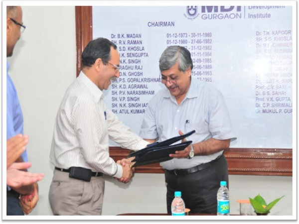 MNIT Jaipur sign MoU with MDI Gurgaon