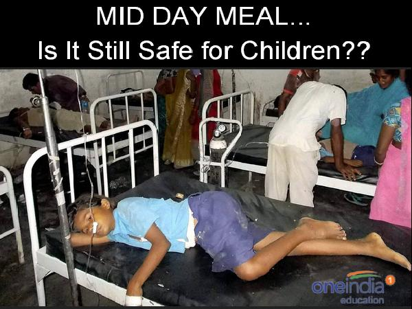 Mid Day Meal in Bihar. Children Affected