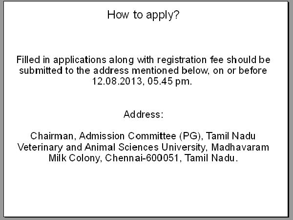 How to apply for admissions