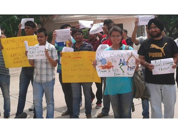 Students against CBSE JEE normalisation