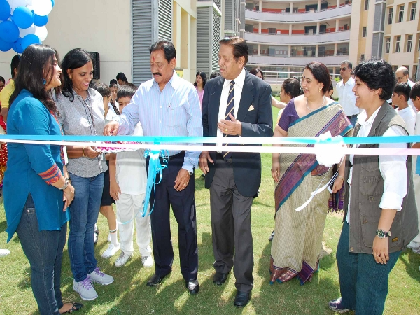 Mr Chandu Borde & Mr. Chetan Chauhan in inauguration ceremony of Chandu Borde Global Cricket Academy