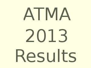 ATMA July 2013 Entrance results declared