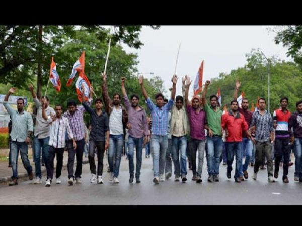 Osmania University students take part in bandh