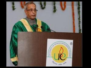 Pranab Mukherjee @ UPES convocation
