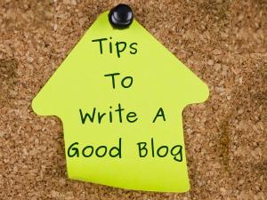 Tips To Write A Good Blog