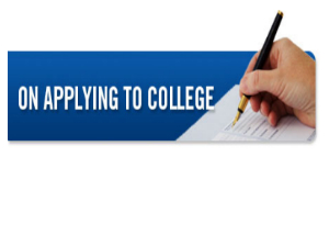 Things to note when applying for college
