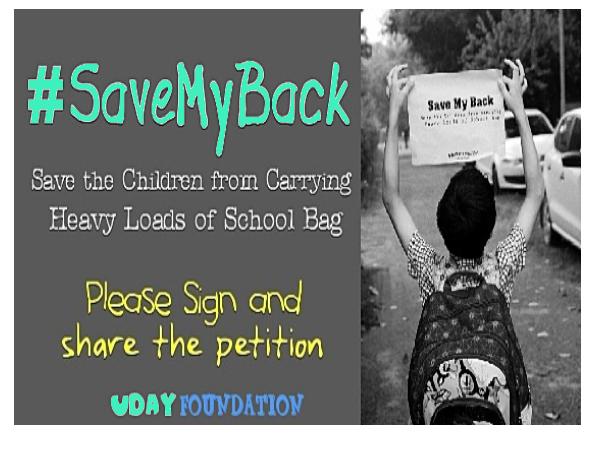 Campaign to reduce luggage:Delhi Schools