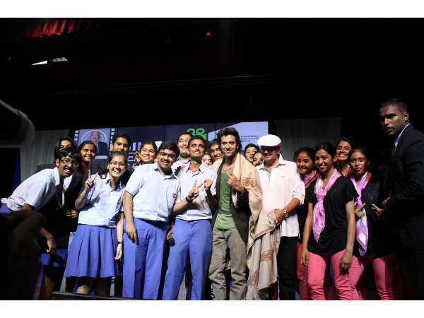 GIIS students with Hrithik Roshan at GIIS Leadership Lecture Series
