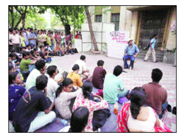 Protest at Jadavpur University
