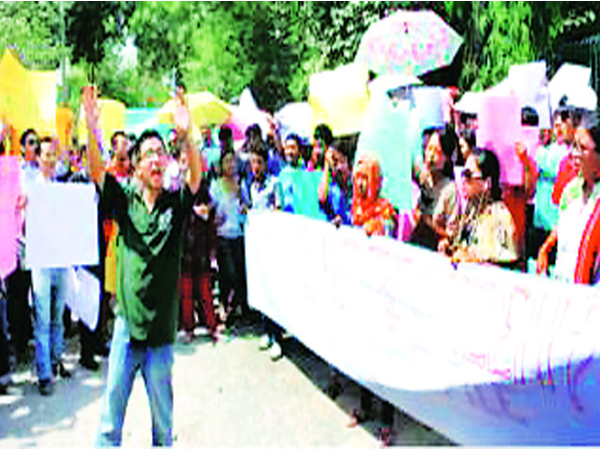 Protest- Manipur Institute of Technology