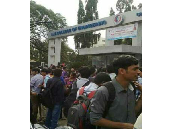 Protest at RV College of Engineering