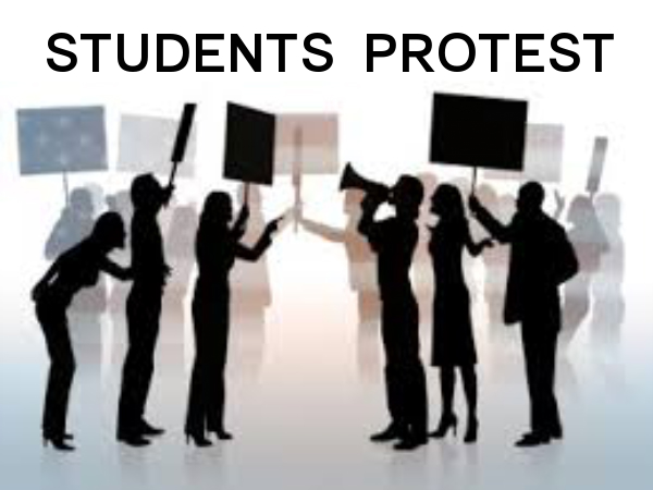 PROTESTS a trending act in many colleges
