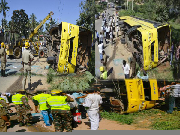 JSS Engg College bus met with accident