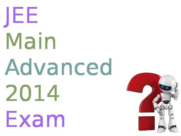 JEE Advanced 2014 exam on 25 May