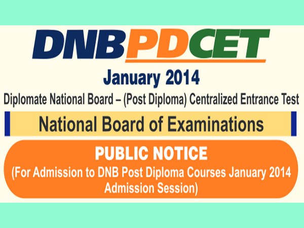 NBE to conduct DNB PD CET 2014 on 23 Nov