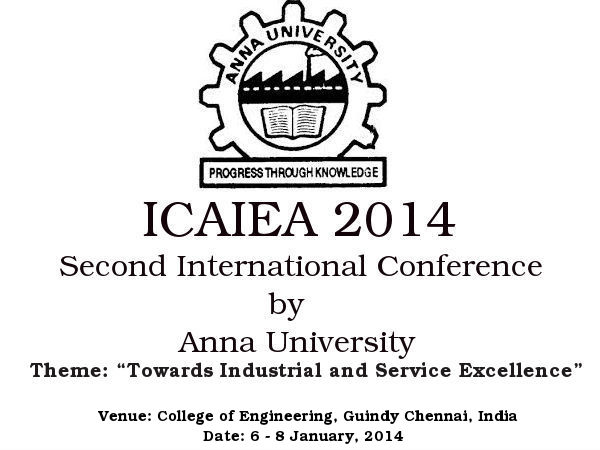 Anna University hosts ICAIEA 2014
