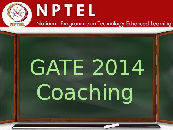 Free online coaching for GATE 2014 exam
