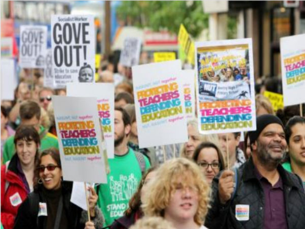 Teachers protest on edu'n reforms:Oxford