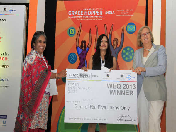 Winner of 2013 Women Entrepreneur Quest  Announced