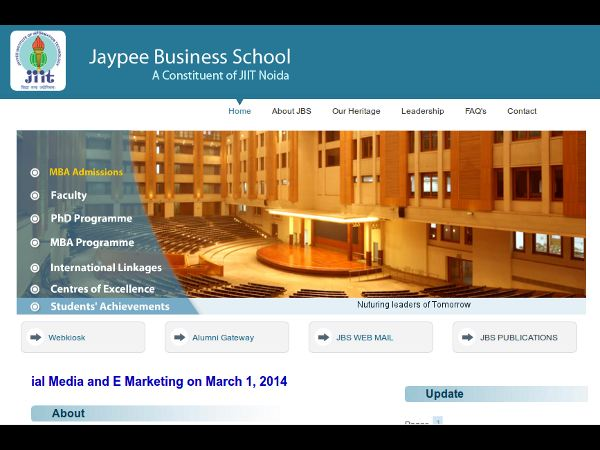 MBA Admission at Jaypee Business School