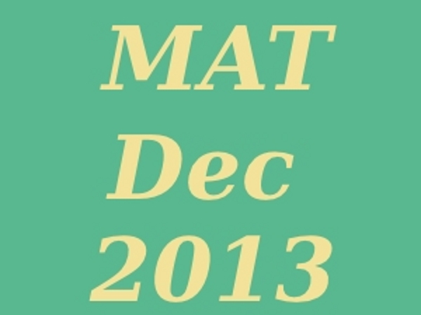 MAT December 2013 Exam Admit Card