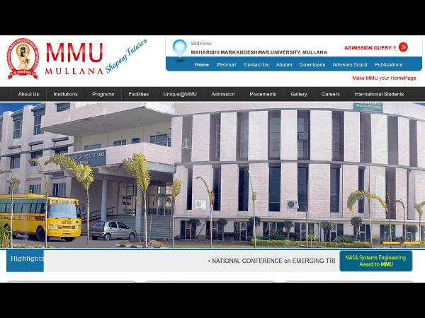 MD/MS/PG Diploma admissions at MM University