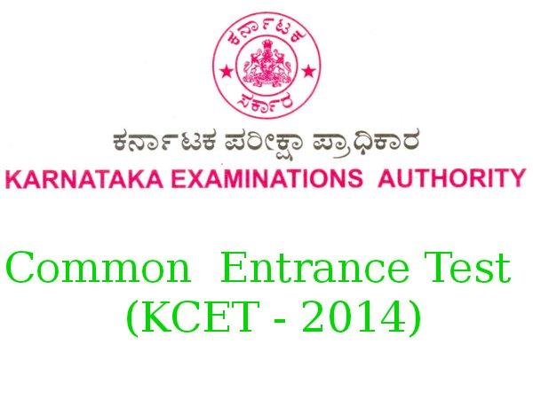 Karnataka CET 2014 Time Table