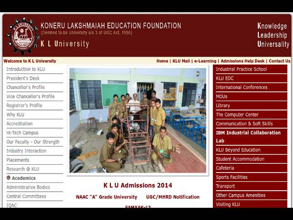 B.Tech programmes admission at KL University