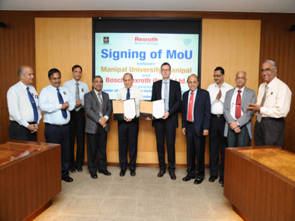 Manipal Varsity signs MoU with Bosch Rexroth India