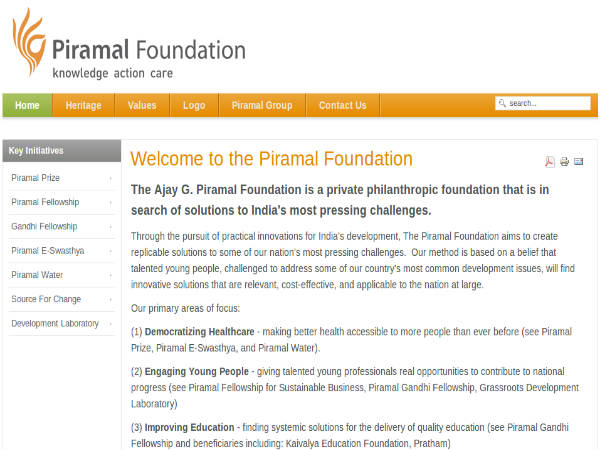 Piramal school launched in Rajasthan