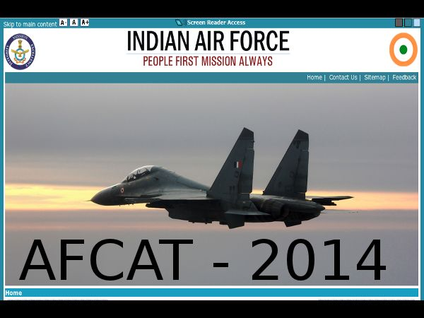 AFCAT 2014 Eligibility Criteria for Men