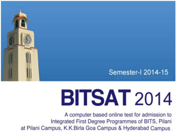 BITSAT 2014 Exam Pattern and Syllabus