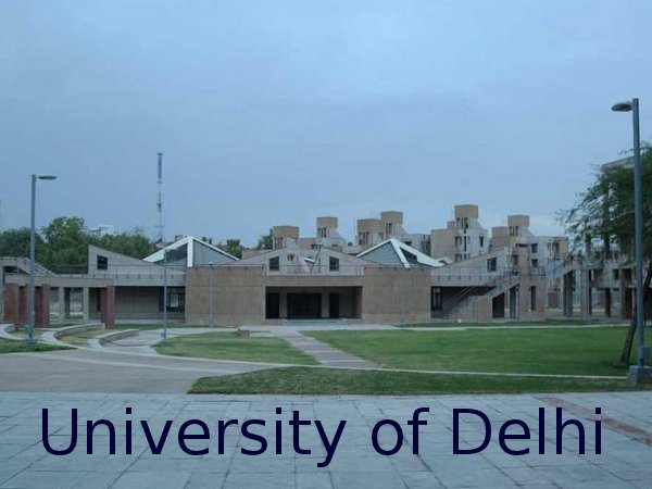 M.A Admission at University of Delhi