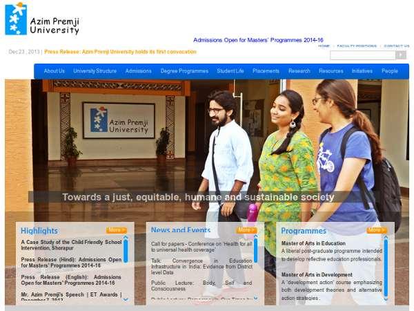 Admission open at Azim Premji University