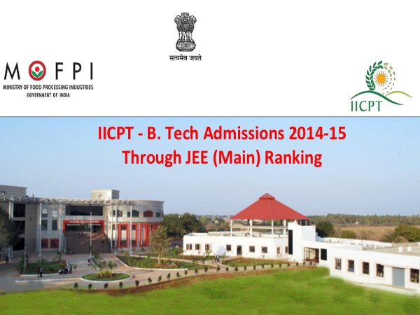 B.Tech admission through JEE Main 2014