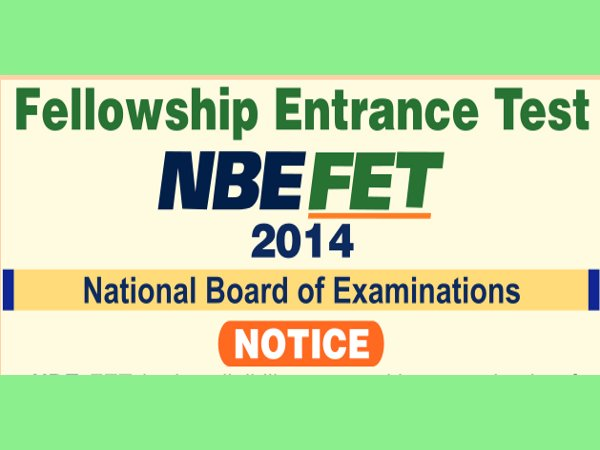 Fellowship Entrance Test 2014 on 2nd February