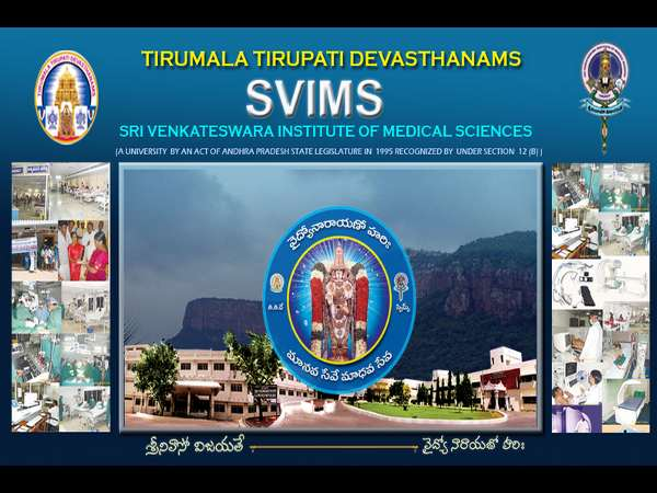 MD Course Admission at SVIMS, Tirupathi