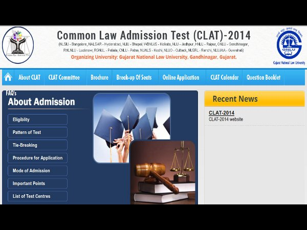 CLAT 2014 Online Application Form Procedure