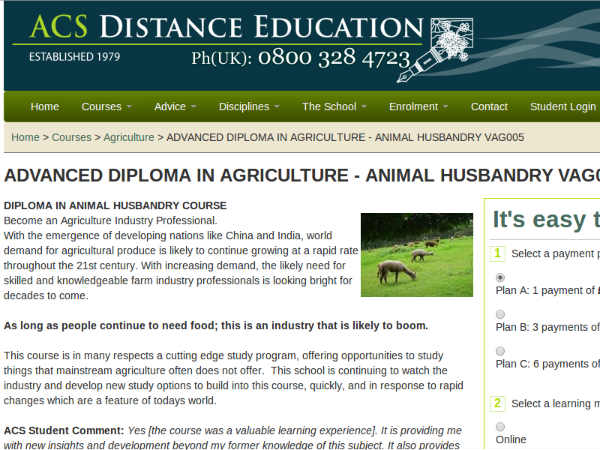 Online course on Animal Husbandry