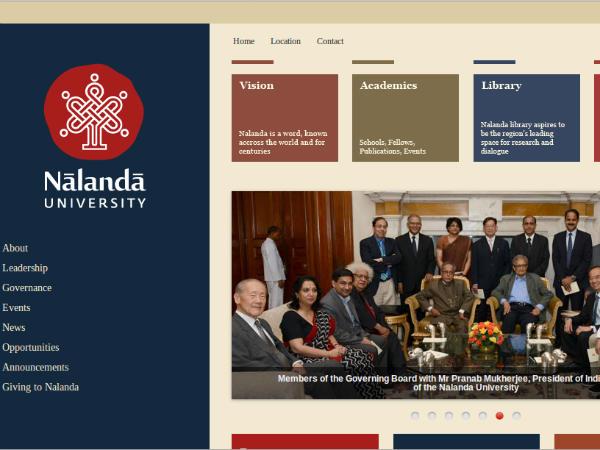 Nalanda university now in Rajgir