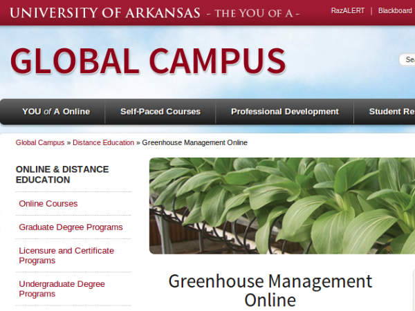 Online course on Greenhouse management