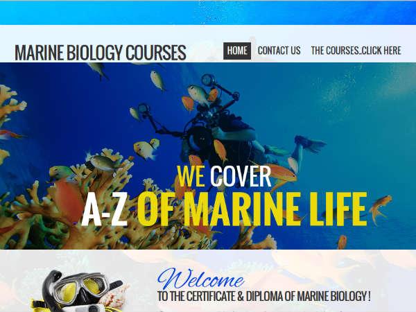 Online course on Marine Biology