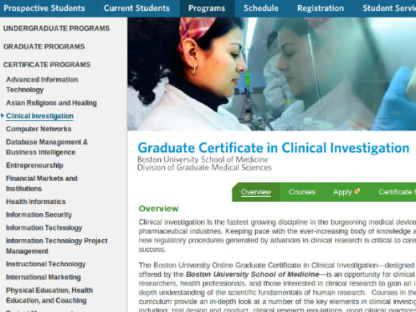 Online course on  Clinical Investigation